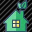 eco, green, house, passive icon