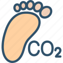 carbon, co2, emission, footprint, pollution icon
