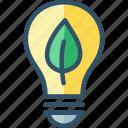 bulb, eco, ecolight, friendly, light icon
