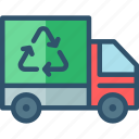 dustcart, garbage, recycle, recycling, truck icon