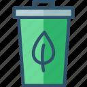 bin, can, eco, garbage, trash
