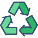 eco, recycle, recycling, reuse, sign icon