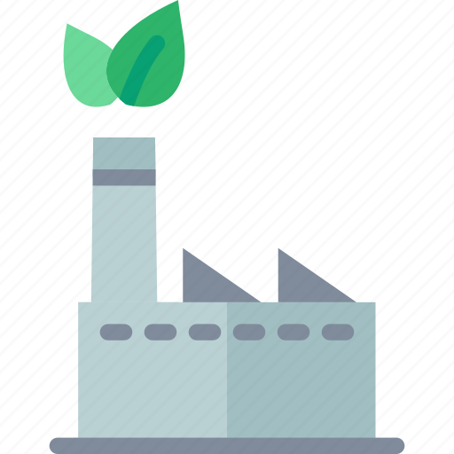 Eco, factory, green, industry icon