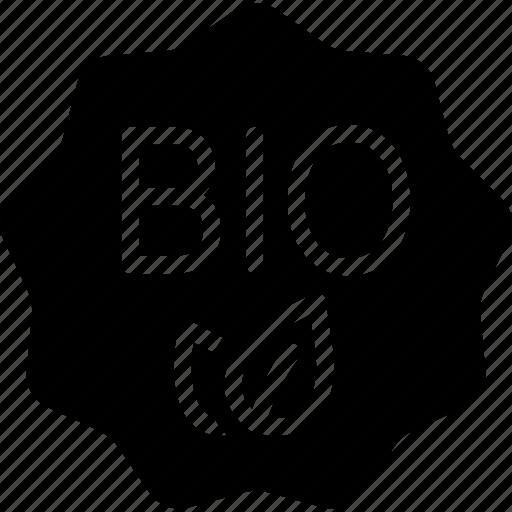 badge, bio, green, label icon
