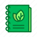ecology, environment, notebook icon