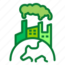 factory, industry, pollution
