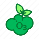 eco, ecology, environment, green, ozone icon