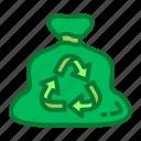 bins, recycle, trash