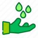 clean, drop, eco, ecology, saving, water icon