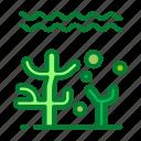 ocean, plants, sea icon