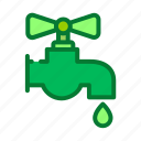 drop, eco, ecology, environment, tap, water icon
