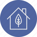 eco, ecology, house, leaf, nature icon