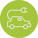 car, ecology, electric, nature icon