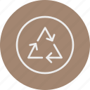 ecology, nature, recycle, sign icon