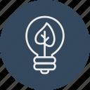 blub, ecology, energy, leaf, light, renewable icon