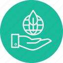ecology, hand, leaf, nature, sprout icon