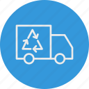 ecology, nature, recyle, truck icon