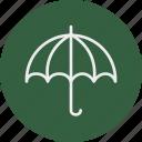 ecology, nature, rain, umbrella icon
