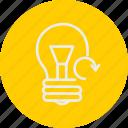 bulb, ecology, light, nature icon