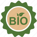 bio, eco, ecology, green, label, nature, plant, product icon