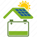 battery, bio, cell, conservation, eco, ecology, energy, nature, power, solar icon