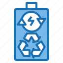 battery, clean, ecology, environment, nature, people, recycle icon