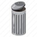 basket, bin, can, cartoon, dump, dustbin, trash icon
