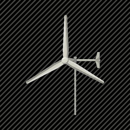 cartoon, electricity, energy, renewable, turbine, wind, windmill icon