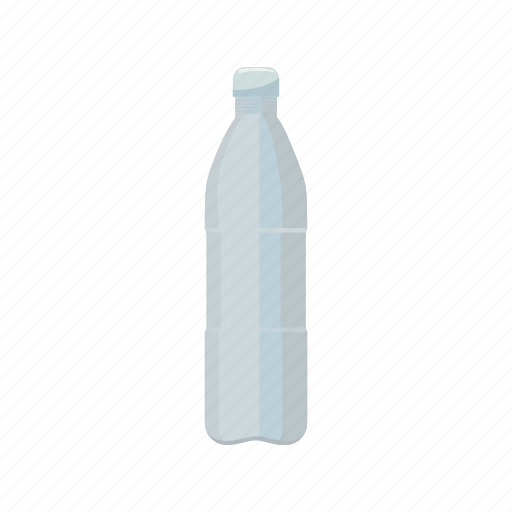 bottle, cartoon, container, drink, plastic, transparent, water icon