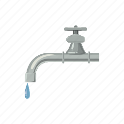cartoon, drop, environment, faucet, save, tap, water icon