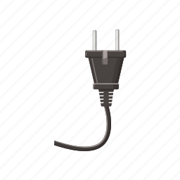 cable, cartoon, electric, electricity, energy, power, wall icon
