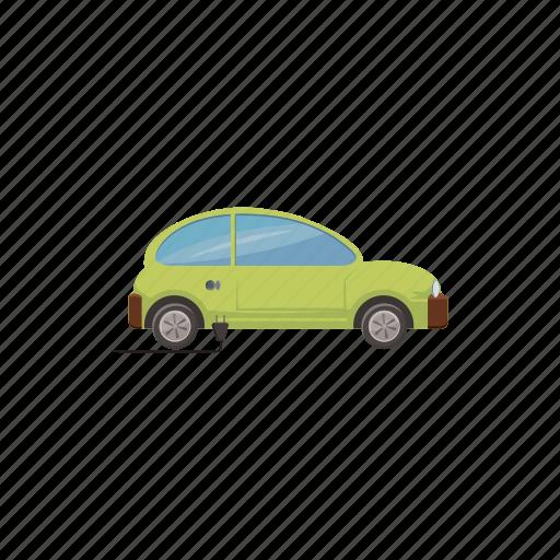 alternative, car, cartoon, electric, energy, power, vehicle icon
