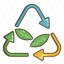 ecology, green, leaf, renewable energy icon