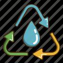ecology, green, renewable energy, water icon