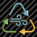 ecology, green, renewable energy, wind icon