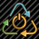 ecology, green, power, renewable energy icon