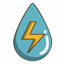ecology, energy, green, hydro power, water icon