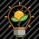 eco light, ecology, green, nature