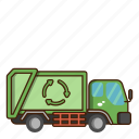 ecology, garbage truck, green, nature, recycle icon
