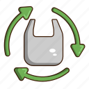 bag, ecology, green, recycle icon