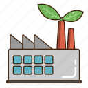 eco factory, ecology, factory, green, industry icon