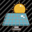 ecology, energy, green, solar pane, sun icon