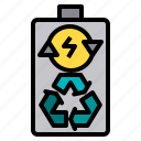 battery, clean, global, group, happy, park, recycle icon