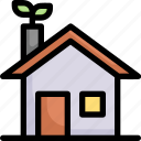 eco, eco house, ecology, energy, green house, home, nature icon