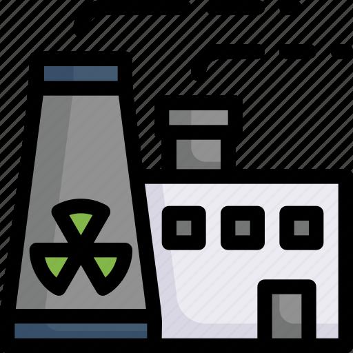 eco, ecology, energy, factory, nature, nuclear energy, radioactive icon