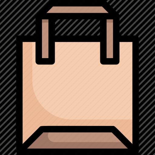 eco, ecology, energy, nature, paper bag, reusable, shopping bag icon