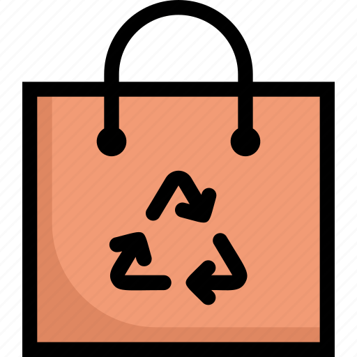 eco, ecology, energy, nature, paper bag, recycle bag, reusable icon