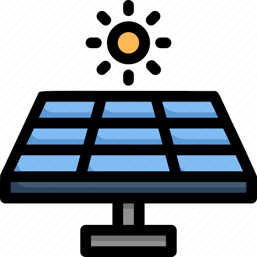 eco, ecology, electricity, energy, nature, solar energy, solar panel icon