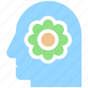 head, ecology, recycling, environment, flower, green, think