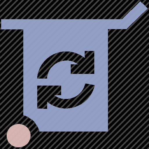 ecological, ecology, energy, environment, wheelbarrow icon